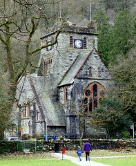 St Mary's church (* RICHARD M) Tags: old windows winter church stone wales architecture conway towers bangor landmarks historic welsh slate february betwsycoed stmaryschurch clocks conwy publicclocks capelcurig penmachno churchclocks dodwyddelan