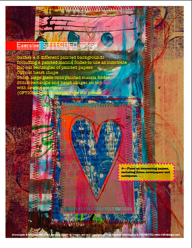 monotypes & drizzles online workshop pdf workbook page