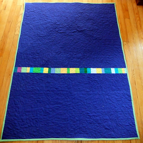 back of deep breath quilt