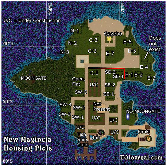 Ultima Online - New Magincia - Housing Lottery Plots