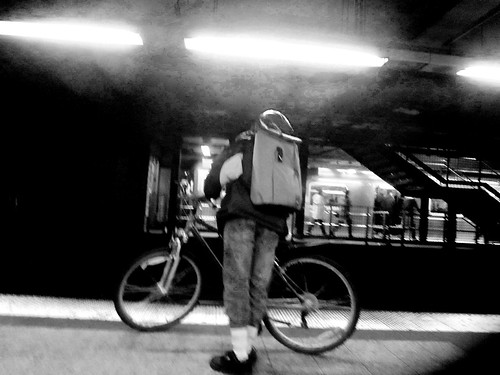 DAY 614: BIKE SUBWAY B&W