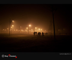 Dark Path to Enlightenment (Ray Frames) Tags: nightphotography india ganga ganges allahabad riverganges matchpointwinner allahabadindia maghmela rayframes