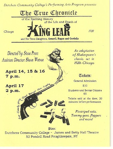King Lear publicity poster by missbloom2000