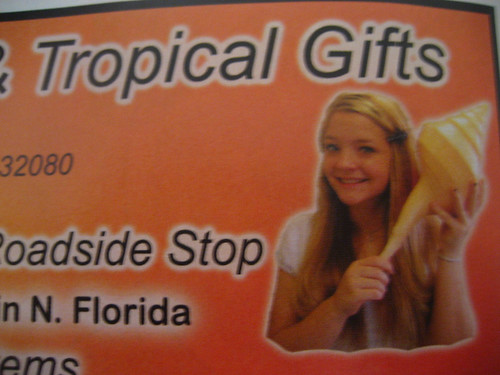 Omnipresent advertising girl of St. Augustine