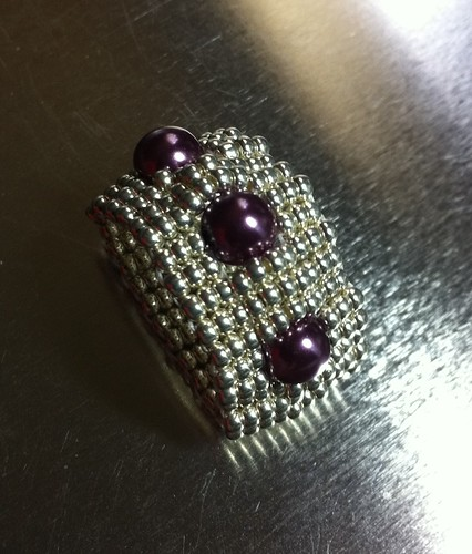 Sarah's Pearl Ladder Ring by Bead Queen