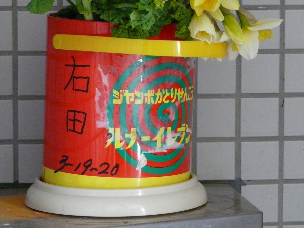Mosquito Repellent Vase in Park Toilet