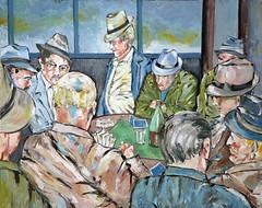 01 óleo sobre lienzo   130x175 cm 1977 (arteneoexpresionista) Tags: rando jorge cartas jugadores