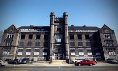 Thomas Edison HS (jeremy marshall) Tags: school castle abandoned philadelphia stone facade de fire high thomas decay north julio philly burgos destroyed edison urbex