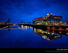 BBC Scotland (Charlotte Brett Photography) Tags: city scotland clyde glasgow bbc pacificquay thebluehour