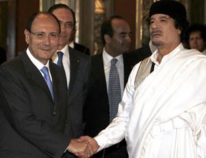 Gheddafi-Schifani
