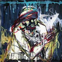 29 óleo sobre lienzo     100x100 cm  2009 (arteneoexpresionista) Tags: rando jorge figuras pinturas neoexpresionismo