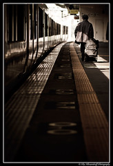 Train Stories - Today I'm leaving! (Ilko Allexandroff (a.k.a. sir_sky)) Tags: old sunset man black station japan lady train interesting good awesome railway story more most kobe mostinteresting       morinomiya