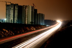 Traffic Light Trail (BinishJohn) Tags: traffic lighttrail niceroad bjohnphotography
