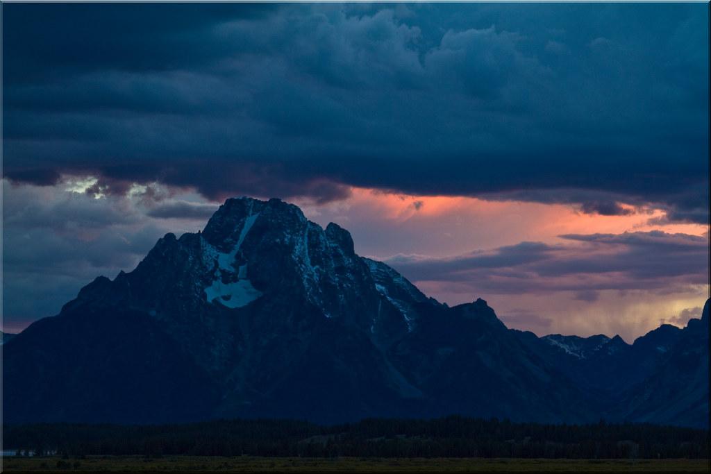 A Storm at Mount Moran
