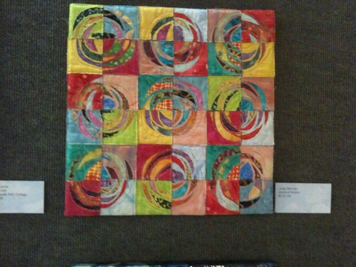 Stitched art quilt collage by Judy Merrick
