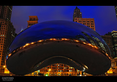 Cloud Gate Blues (C. Dastodd) Tags: park sculpture chicago downtown loop millennium explore cloudgate thebean