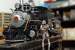 back to the future? (captchaos) Tags: horse white black train garden iron ebay pass tracks loco locomotive heavy baldwin tender trainset 460 gscale backmann ronaldbayan