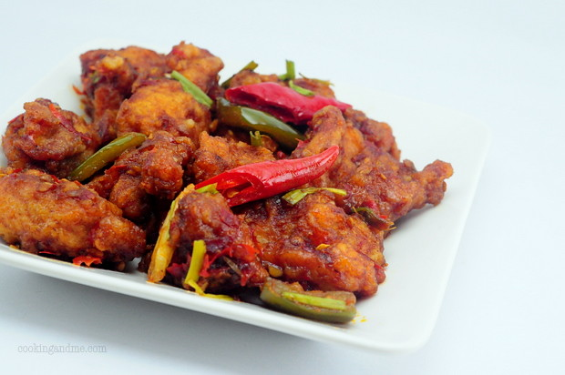indo chinese dry chilli chicken recipe