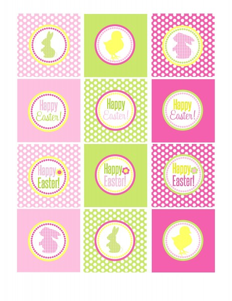 Easter Printables Pink and Green