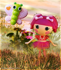 Tippy and the Butterfly (TwoFuzzySisters) Tags: photoshop doll manipulation tippy tumbelina lalaloopsy