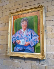 Portrait of Margaret Hockney, by David Hockney (1996) (hellimli) Tags: portrait bradford yorkshire unescoworldheritagesite davidhockney saltaire shipley westyorkshire saltsmill victorianengland englishvillage sirtitussalt victoriahall congregationalchurch newmill stpaulsparishchurch yorkshiremills victorianmodelvillage hockneygallery the1853gallery margarethockney