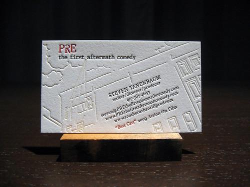 PRE Comedy Letterpress Cards