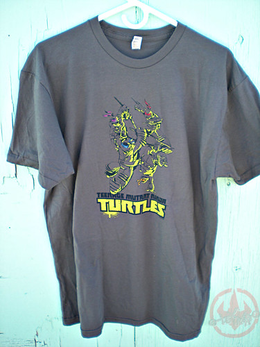 "Nickelodeon TMNT Fan Preview; ""FOUR BROTHERS PIZZA"" // Nick TMNT Preview 'Sketch' t-shirt i (( 2011 ))"