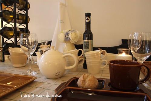 舒適的餐桌佈置