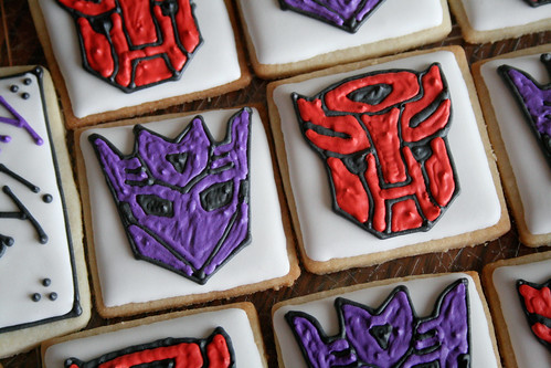Transformers Logo cookies.