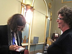IMG_7051 (Grudnick) Tags: hbo npr waitwait donttellme paulapoundstone american standup comedian author actress interviewer commentator maryland frederick weinbergcenter tivolitheatre cindygarland ladygrudnick cd autograph