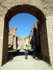 Passing under an arch (markhorrell) Tags: rome romanantiquities baths caracalla