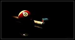 No Hustle (J Michael Hamon) Tags: billiards pool sport ball stick chalk blackbackground photoborder lighting shadow hamon nikon d3200 nikkor 40mm game reflection stilllife