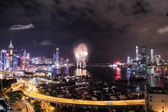 National Day fireworks (Alan Yeh Photography) Tags: october12016 hongkong hongkongnationalday nationalday hknationalday fireworks 1012016 causewaybay victoriaharbour victoriaharbor hkvictoriabarbour victoriaharbourhk 852 kowloon icc