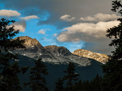 Last Light on the Mountaintops at Whistler (Paul T. Marsh/PositivePaul) Tags: paulmarshphotography paultmarsh leicad3 color nature mountains 2016 britishcolumbia alpenglow wwwpaulmphotographycom leica cloud canada leicadigilux3 lightroom5 whistler vacation