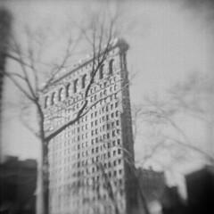 Flatiron Building (David Cory) Tags: nyc film kodak brownie ilford bhf caffenol