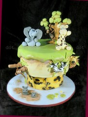 Jungle cake! (Dot Klerck....) Tags: elephant cake southafrica monkey lion capetown dot jungle crocodile giraffe hippo kidscakes eatcakeparty