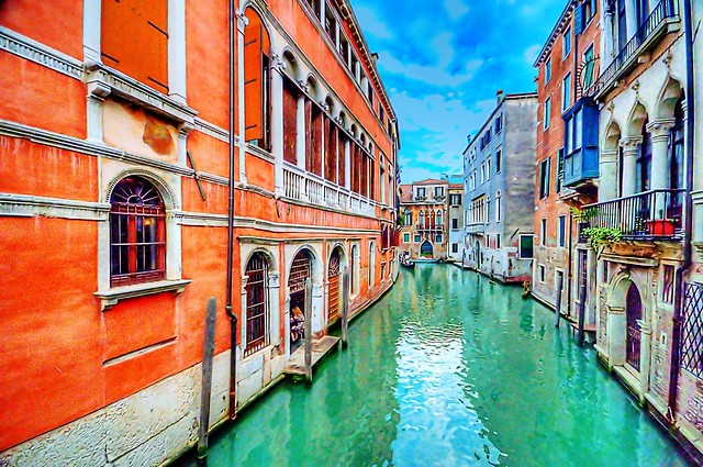 Green waters of Venice
