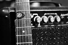 Rock n' Roll [ EXPLORED - Jan 26, 2011 #58 ] (De Santis) Tags: white black rock branco 35mm nikon bokeh guitar guitarra preto strings pick amplificador cordas ampli d3000