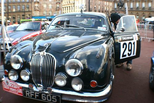 Classic Jaguar Motor Car at George Square, Glasgow