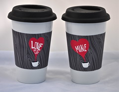 """Coffee Wraps - """"Love in a Cup"""" and """"Mine"""""""
