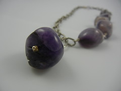 Purple Amethyst and sterling silver necklace (IrenkaJewelry) Tags: silver bay necklace hand purple handmade jewelry made area sterling amethyst beaded irenka