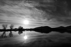 (Nick-K (Nikos Koutoulas)) Tags: sky bw white lake black reflection water clouds greek nikon nikos greece reflexions f4 vr nickk kastoria 1635mm     d700    koutoulas