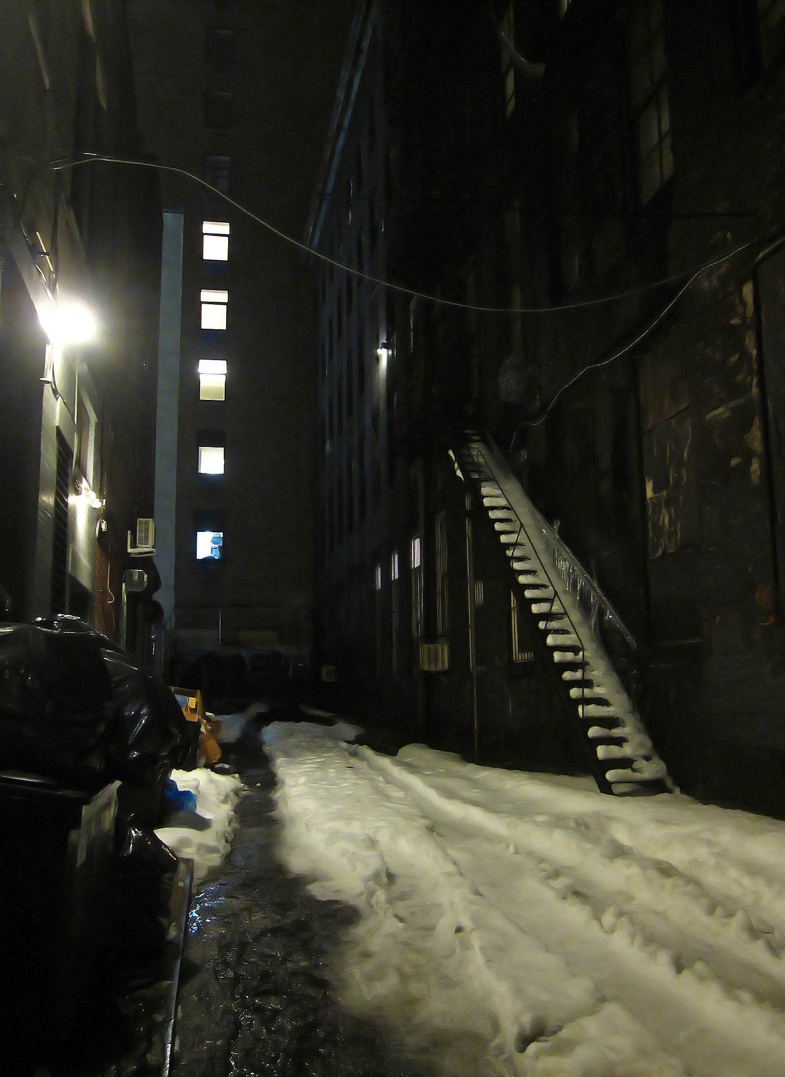 Fire escape and icicles