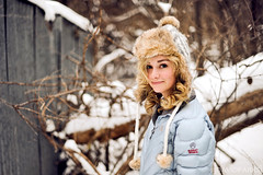 Snow Angel (David Parks - davidparksphotography.com) Tags: winter portrait white snow david oklahoma girl face sarah nikon parks edmond d700