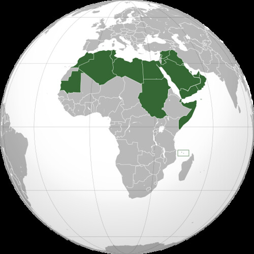 Arab League (orthographic projection)