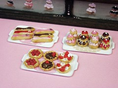 Miniature Food - Chocolate and Pink Pastry Counter #5 (PetitPlat - Stephanie Kilgast) Tags: cake shop miniatures counter sweet handmade chocolate sugar polymerclay fimo pastry minifood dollhouse gateau palepink dollshouse miniaturefood fauxfood miniaturen oneinchscale petitplat