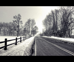 ...cold and fogy (FedeSK8) Tags: road winter snow cold fog strada neve nebbia freddo nikond80 fedesk8