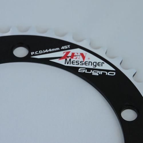 SUGINO / ZEN MESSENGER CHAIN RING / BLACK