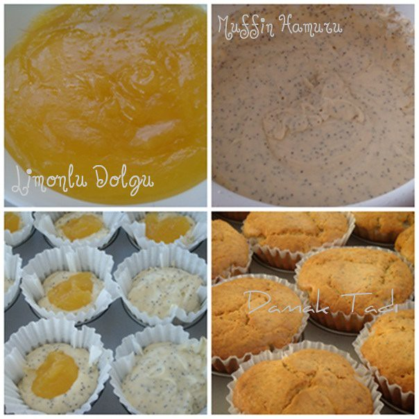 Limon dolgulu muffinler