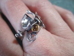 Citrine side of flip ring
